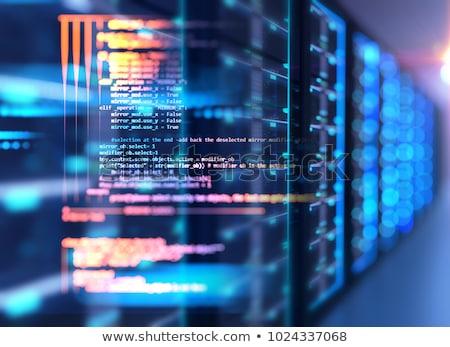 Grand données ordinateur bouclier personnes courriel Photo stock © yupiramos