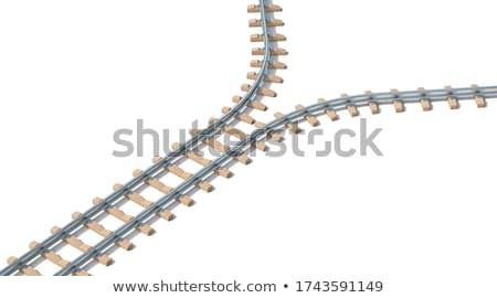 Eisenbahn Absturz 3D 3d render Illustration isoliert Stock foto © djmilic