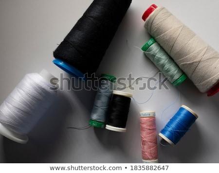 Stock fotó: Cséve · zöld · fonál · fehér · szövet · szerszám