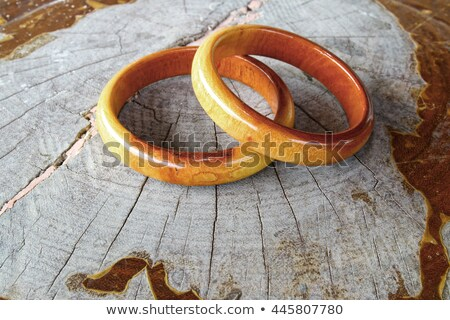 Fából készült karkötő izolált fehér fa divat Stock fotó © marylooo