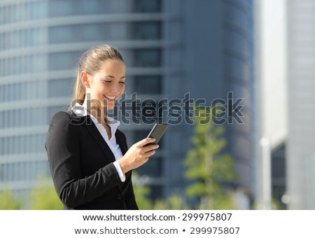 Portrait of a smiling job applicant on white background Stock photo © photography33