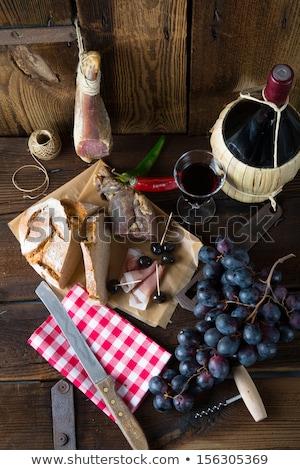 Wineglassbread And Serrano Ham Stok fotoğraf © Dar1930