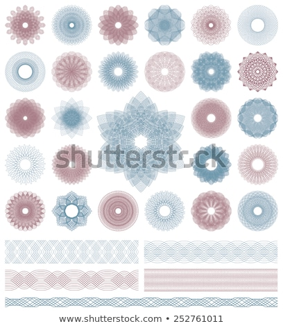 Set of vector guilloche rosettes certificate or diplomas stock photo © fotoscool