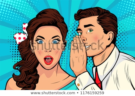 man telling a secret to his girlfriend Stock photo © photography33