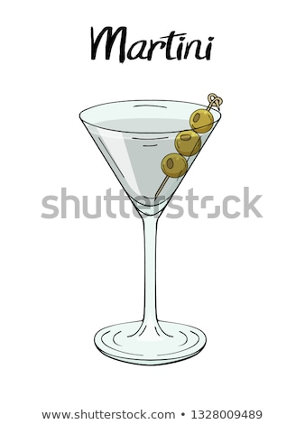 Martini cocktail with olives Stock photo © Sandralise