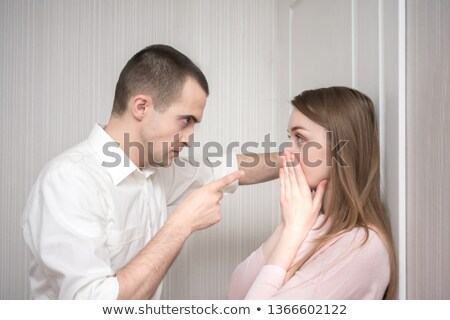Woman threatening with her finger Stock photo © photography33