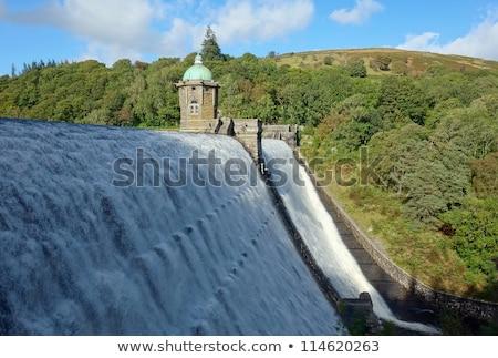 Zbiornik wody dolinie walia budowy krajobraz Zdjęcia stock © latent