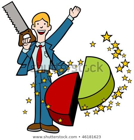 Metade truque empresário truque de mágica Foto stock © cteconsulting