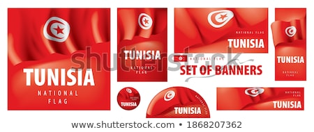 Vector - Tunisia Country Set of Banners Stock photo © gubh83
