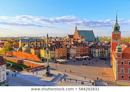 Varsó óváros házak ház város utazás Stock fotó © FER737NG