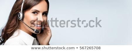headphone text center stock photo © idesign