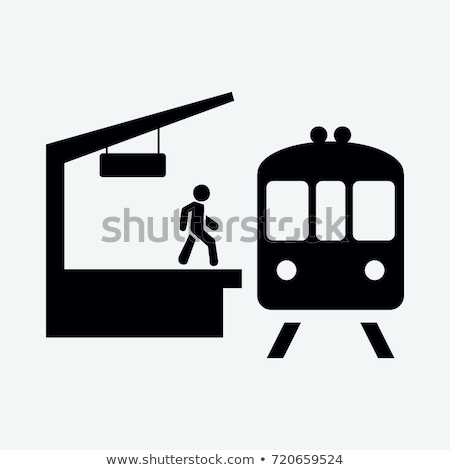 Subway train and station platform Stock photo © zzve