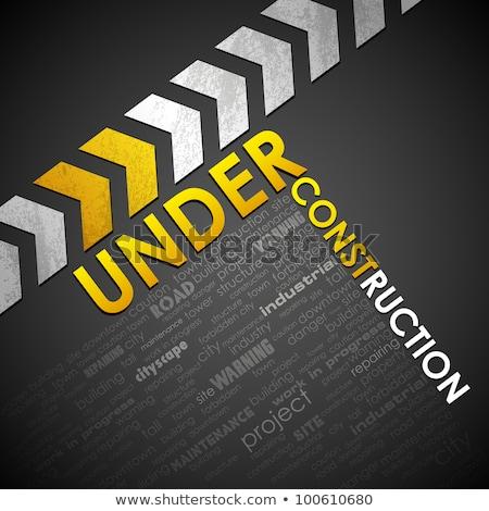 Blank Under Construction Tag Stockfoto © Vectomart