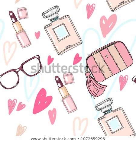 кошелька шаблон фон красоту подарок женщины Сток-фото © heliburcka