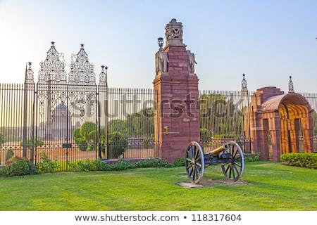 閉店 · ゲート · インド · 議会 · 建物 · セキュリティ - ストックフォト © meinzahn