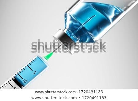 Spritze Impfstoff Hand erfahren Arzt medizinischen Stock foto © OleksandrO