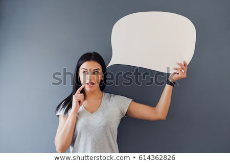 Stock photo: real woman thinking about her idea