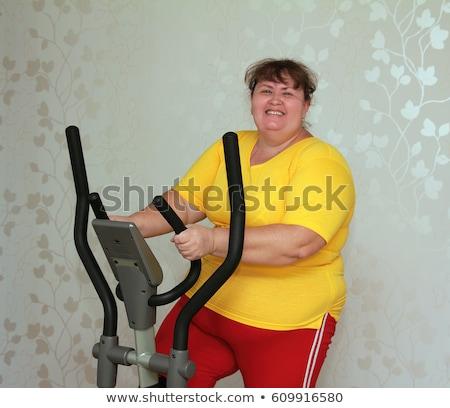 太り過ぎ · 女性 · 行使 · 自転車 · 女性 · 健康 - ストックフォト © mikko