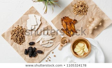 herbata · ziołowa · korzeń · chińczyk · kaligrafia · skrypt · ryżu - zdjęcia stock © joker