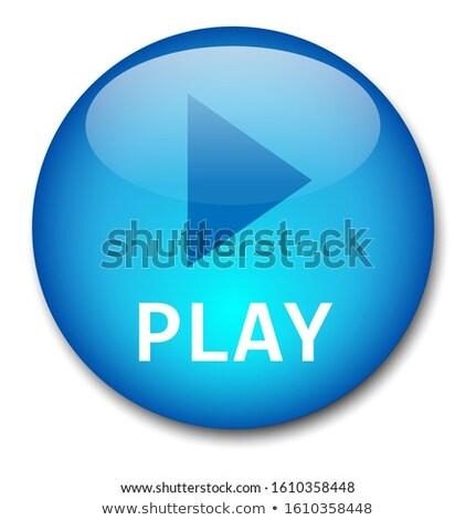 Download Here Blue Circular Vector Button Stock photo © rizwanali3d