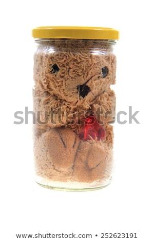 Azonnali Valentin nap játék üveg üveg izolált Stock fotó © jonnysek