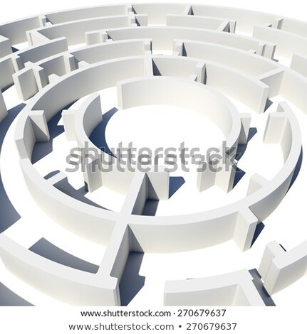 Top view of 3d model round labyrinth Stock photo © cherezoff