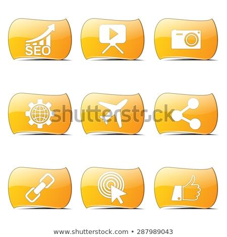 seo · internet · felirat · citromsárga · vektor · gomb - stock fotó © rizwanali3d