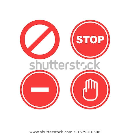 Stock photo: Law Sign Red Vector Button Icon Design Set