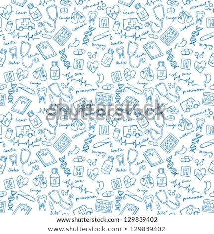 heart doodle drawing, Medical background Stock photo © netkov1