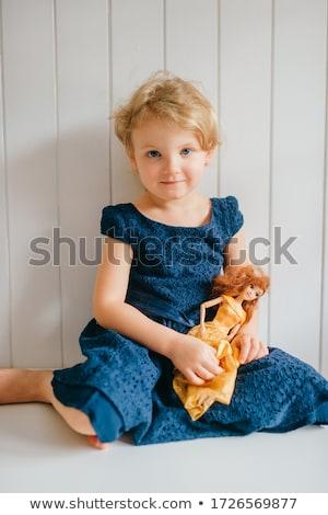 kind · haren · mooie · weinig · vergadering - stockfoto © anessir
