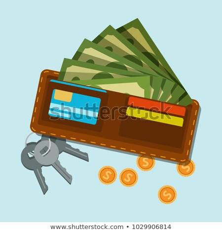 Portemonnee bankbiljetten munten clip geld dollar Stockfoto © sharpner