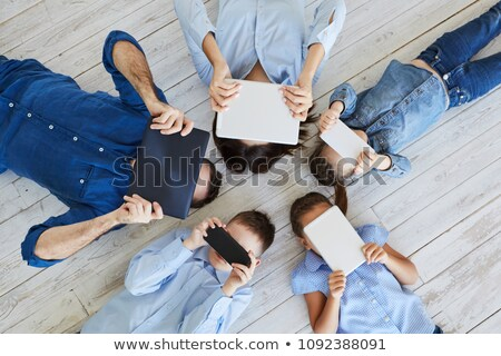 college · jongen · laptop · lopen · glimlachend - stockfoto © ozgur