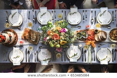 свадьба продовольствие зеленый хлеб листьев Сток-фото © x3mwoman