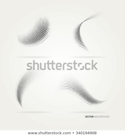 yarım · ton · model · eğim · etki · yatay · noktalar - stok fotoğraf © fresh_5265954