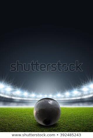 Shotput In Night Stadium Stock photo © albund