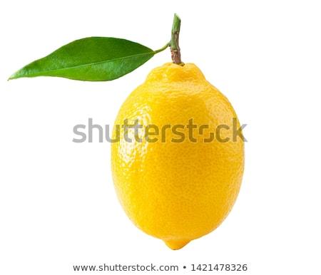 Citrom reggeli citromszelet fehér tányér citromsárga Stock fotó © Fisher
