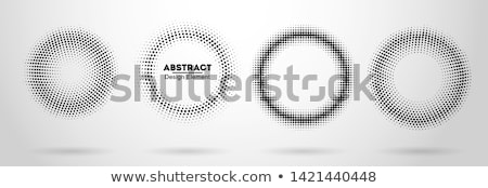 Sombre circulaire en demi-teinte texture résumé cadre Photo stock © SArts