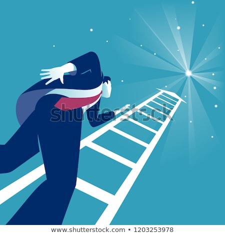 difícil · carreira · realização · negócio · meta · empresário - foto stock © elnur