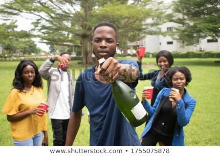 Man having drink in restaurant Stock photo © wavebreak_media