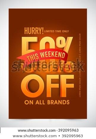 週末 · ベスト · 販売 · ラベル · 20 · オフ - ストックフォト © studioworkstock