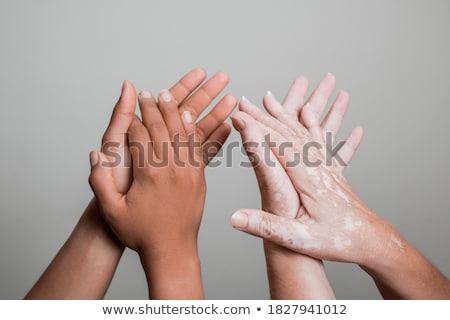 человеческая рука фон ногтя пальца человека фотография Сток-фото © bluering