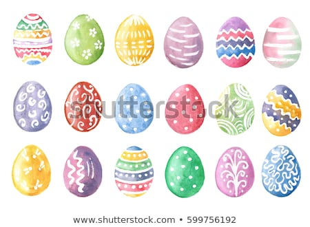 watercolor easter eggs stock photo © odina222