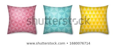 rahat · yastık · şablon · beyaz · kanepe · yastık - stok fotoğraf © robuart