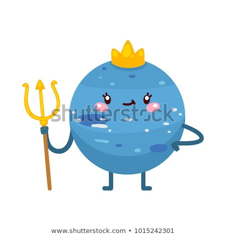 Happy Cartoon Neptune Stock photo © cthoman