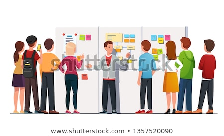 Woman Presenter by Whiteboard Vector Illustration Stock photo © robuart