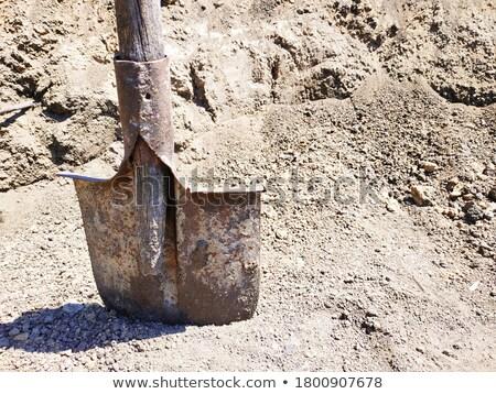 ржавые · лопатой · стране · куча · строительство · саду - Сток-фото © luissantos84