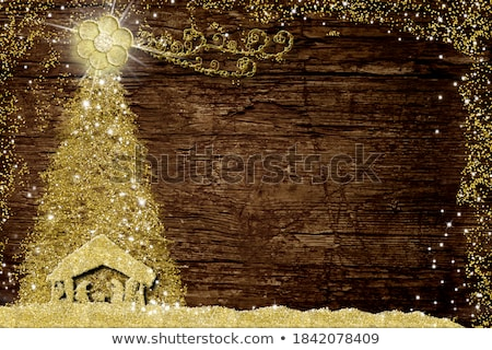 the holy family in a rustic nativity scene Stock photo © nito