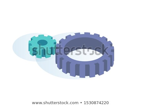 Big and Small Gears Spinning Thanks to Each Other Stock photo © robuart