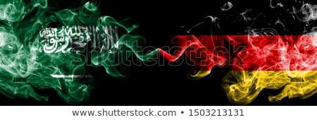Kettő integet zászlók Németország Szaúd-Arábia izolált Stock fotó © MikhailMishchenko