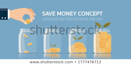 money falling in hand collecting coins icon vector stock photo © blaskorizov
